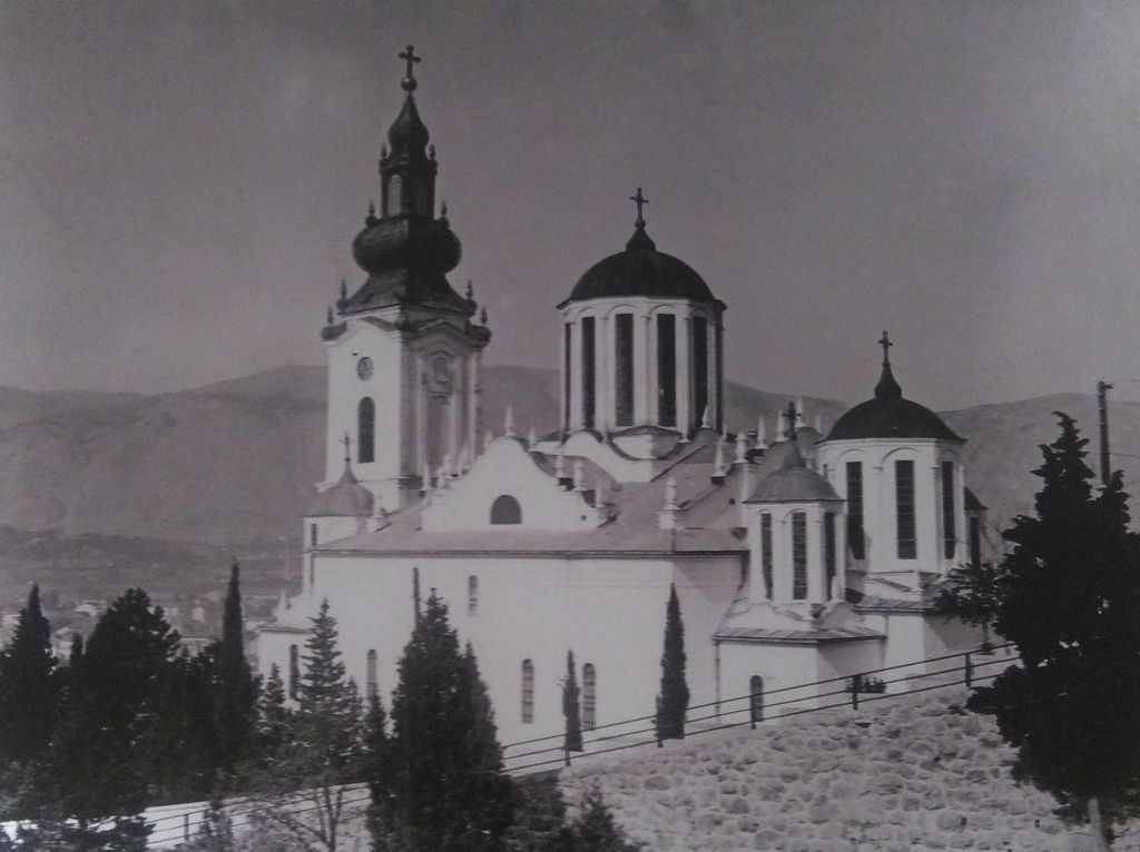 Соборная церковь в Мостаре на старой фотографии. Фото: Елена Арсениевич, CC BY-SA 3.0