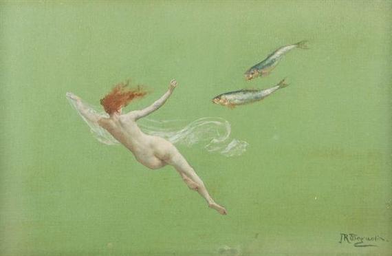 Вилы любят воду. John Reinhard Weguelin, Public Domain