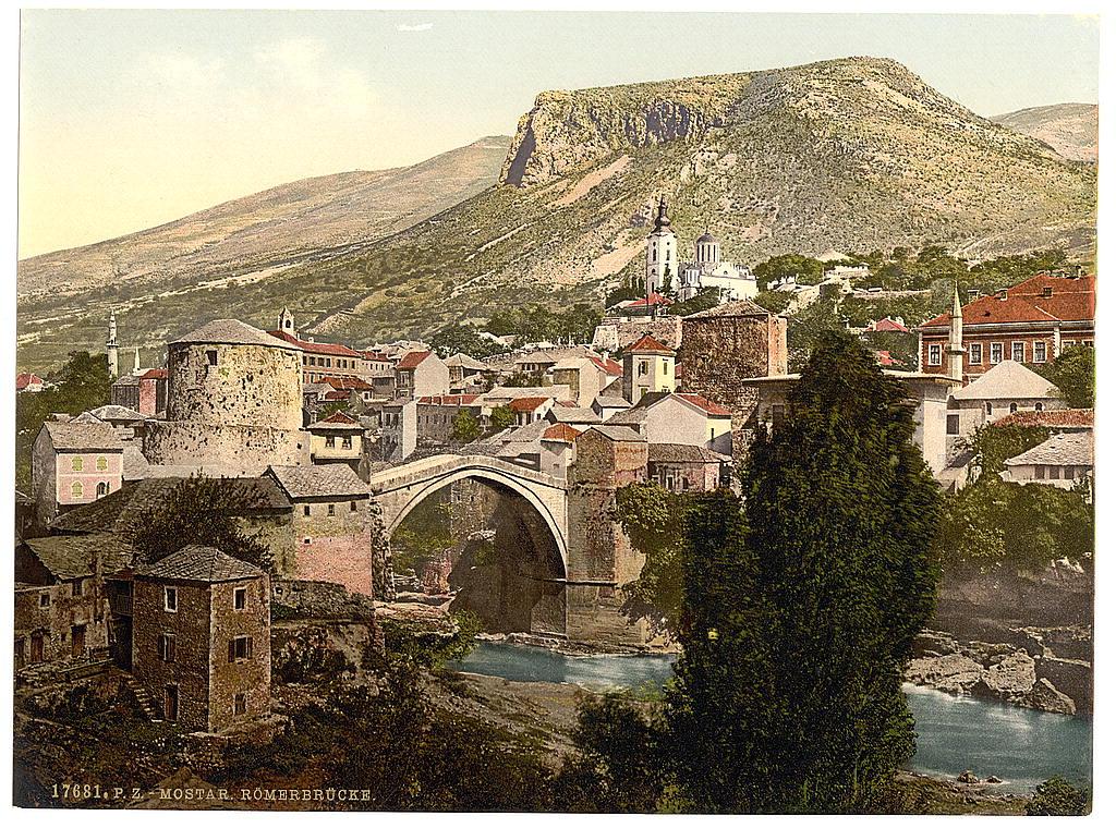 Мостар в конце 19-го века. Unknown, Public Domain