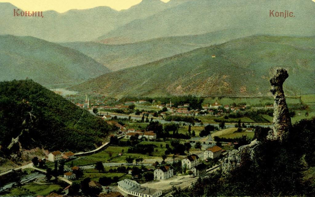 Кониц около 1900 года. Старая открытка. Jl. Mužijević. 3369, CC BY-SA 3.0