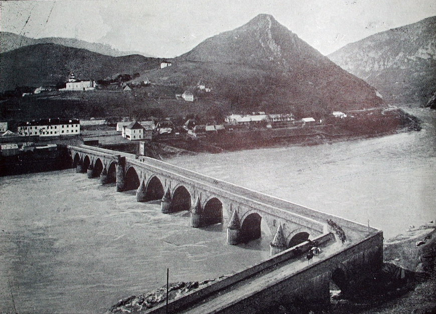 Вишеградский мост на фотографии 1910 года. Unknown, Public Domain