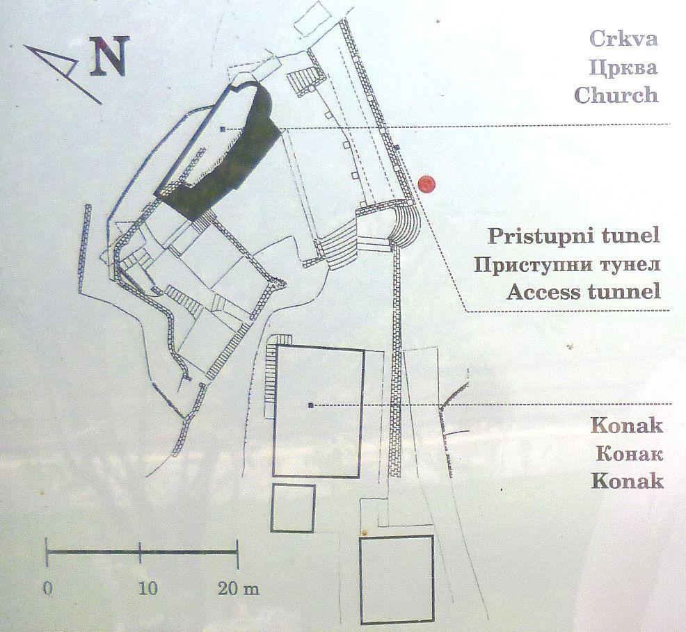 План монастыря. Фото: Елена Арсениевич, CC BY-SA 3.0