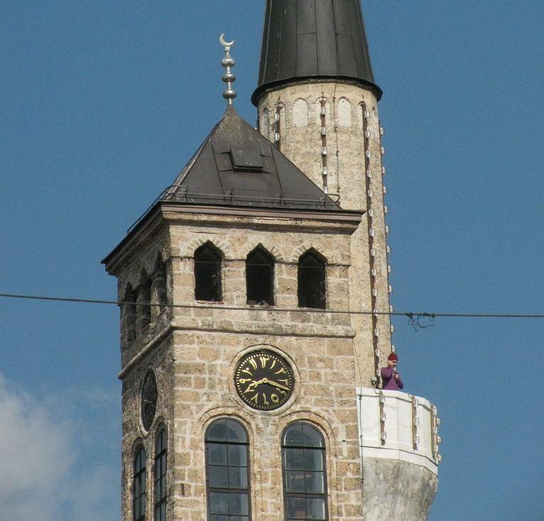 Сараевская сахат-кула, часовая башня. Фото: BiHVolim, CC BY-SA 3.0