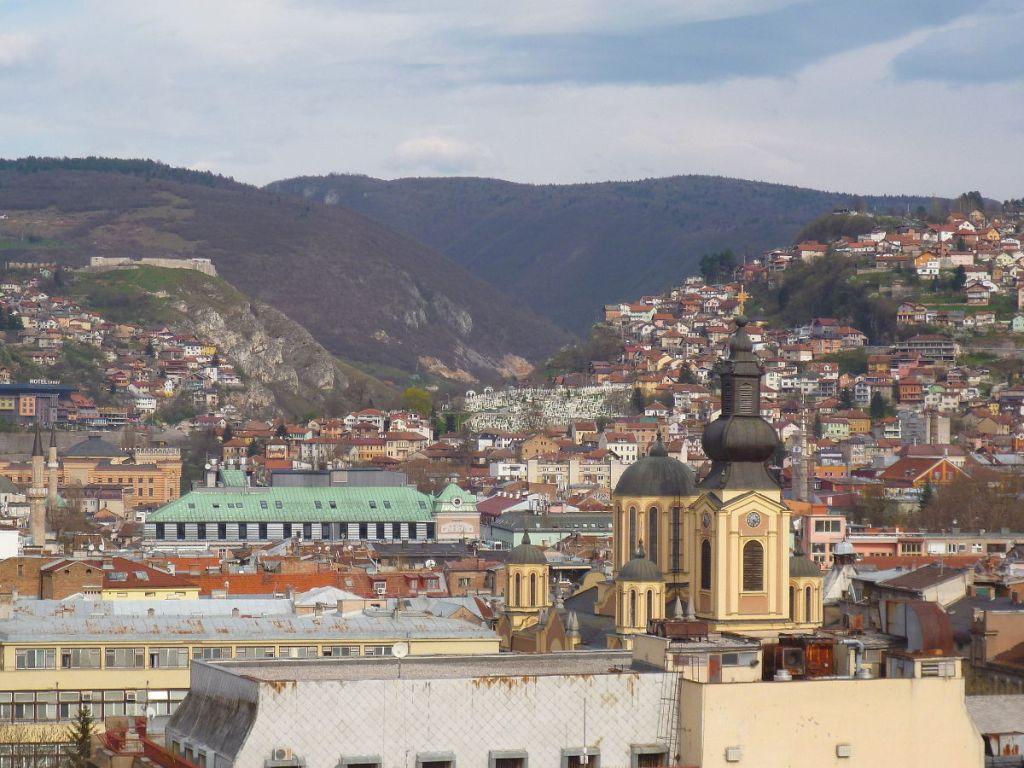 Сараево. Вид сверху. Фото: Елена Арсениевич, CC BY-SA 3.0