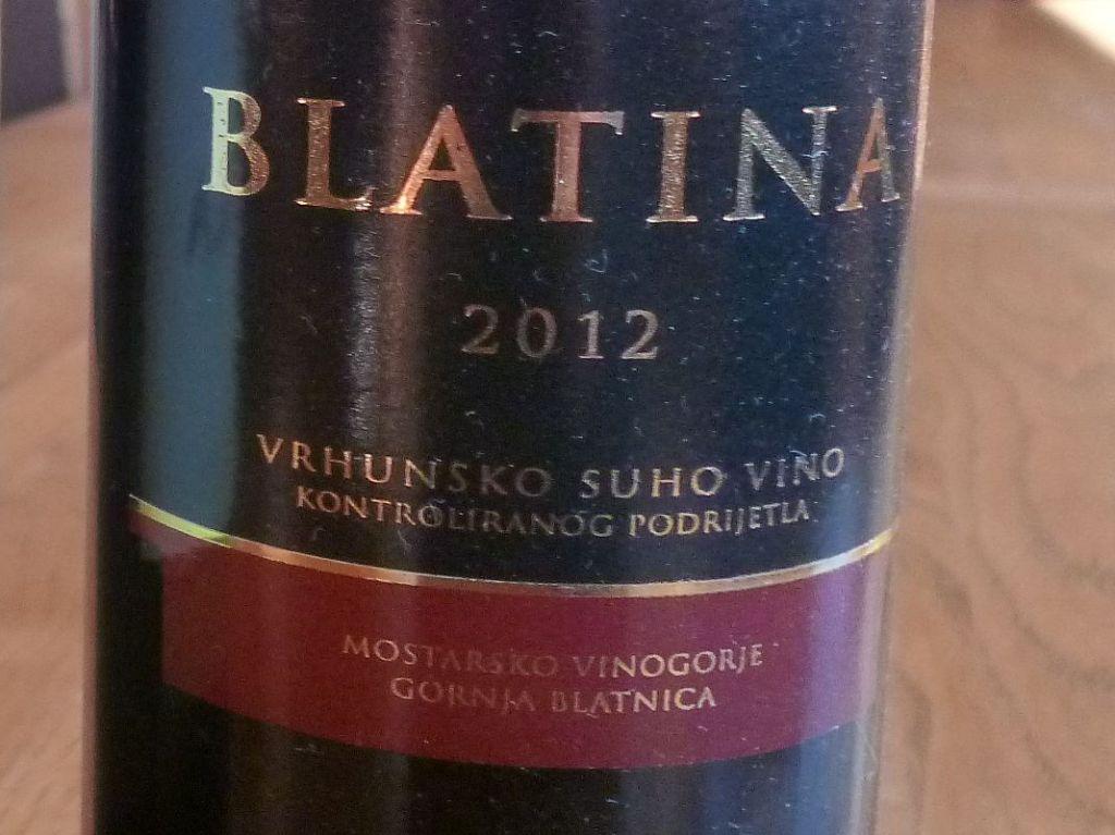Вино сорта блатина. Фото: Елена Арсениевич, CC BY-SA 3.0