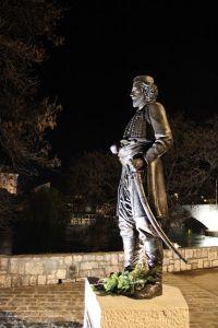 Памятник в ночи. Фото: Елена Арсениевич, CC BY-SA 3.0
