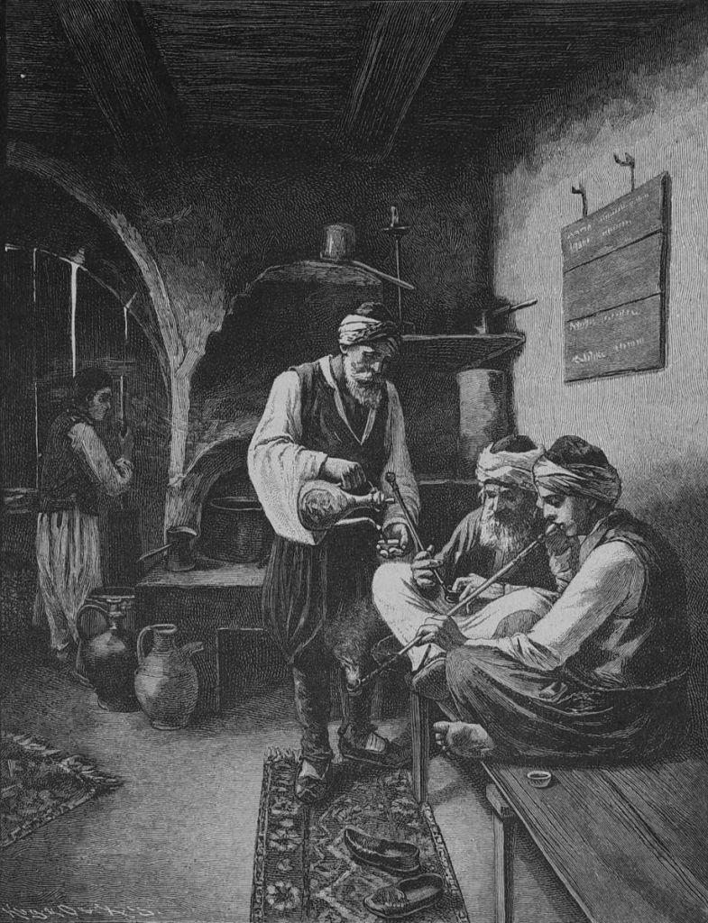 Чибуки и кофе. Die Gartenlaube, public domain