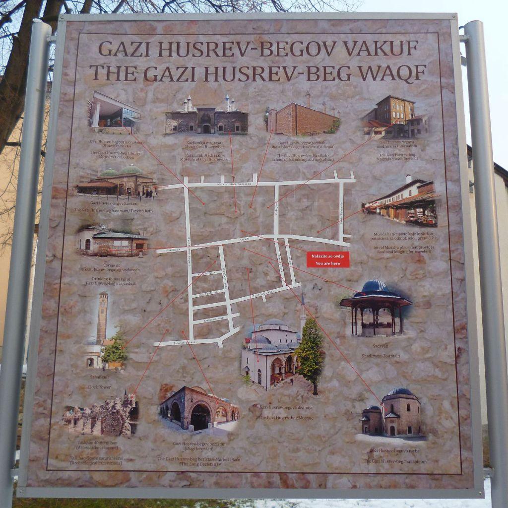 Карта вакуфа Гази Хусрев-бега. Фото: Елена Арсениевич, CC BY-SA 3.0