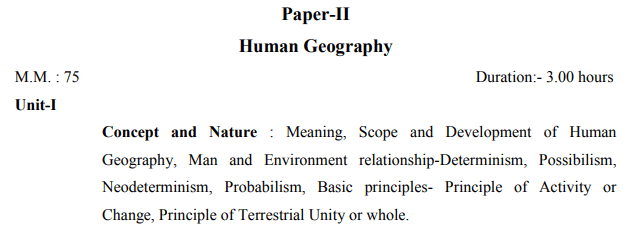 BA 1st year geography syllabus in Hindi pdf
