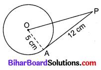 Bihar Board Class 10 Maths Solutions Chapter 10 वृत्त Additional Questions VSAQ 1