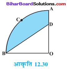 Bihar Board Class 10 Maths Solutions Chapter 12 वृतों से संबंधित क्षेत्रफल Ex 12.3 Q12