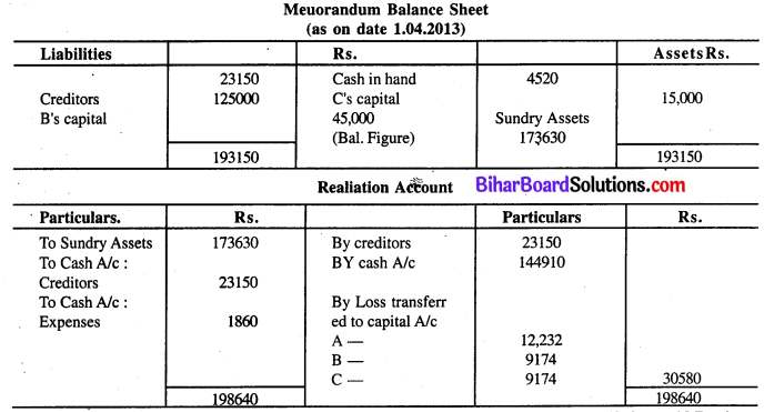 Bihar Board 12th Accountancy Model Question Paper 3 in English Medium Q27