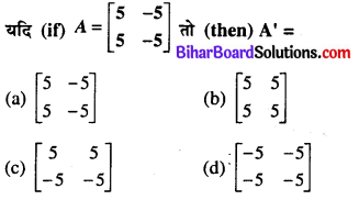 Bihar Board 12th Maths Model Question Paper 1 in Hindi Medium MCQ Q10