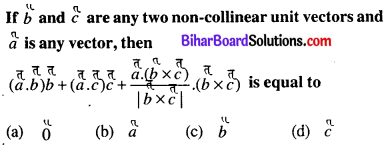 Bihar Board 12th Maths Objective Answers Chapter 10 Vector Algebra Q53