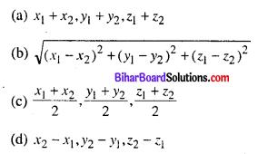 Bihar Board 12th Maths Objective Answers Chapter 11 त्रि-विमीय ज्यामिति Q35
