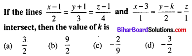 Bihar Board 12th Maths Objective Answers Chapter 11 Three Dimensional Geometry Q23