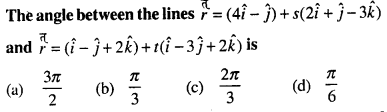 Bihar Board 12th Maths Objective Answers Chapter 11 Three Dimensional Geometry Q26
