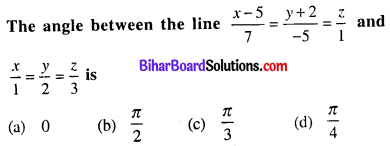 Bihar Board 12th Maths Objective Answers Chapter 11 Three Dimensional Geometry Q31