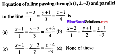 Bihar Board 12th Maths Objective Answers Chapter 11 Three Dimensional Geometry Q34