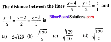 Bihar Board 12th Maths Objective Answers Chapter 11 Three Dimensional Geometry Q44