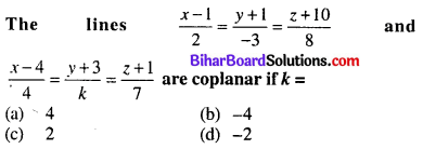 Bihar Board 12th Maths Objective Answers Chapter 11 Three Dimensional Geometry Q56
