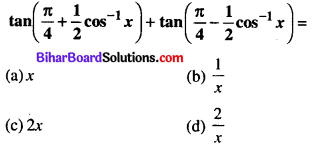 Bihar Board 12th Maths Objective Answers Chapter 2 Inverse Trigonometric Functions Q29