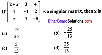 Bihar Board 12th Maths Objective Answers Chapter 4 Determinants Q35