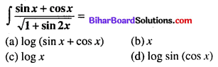 Bihar Board 12th Maths Objective Answers Chapter 7 समाकलन Q38