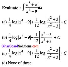 Bihar Board 12th Maths Objective Answers Chapter 7 Integrals Q10