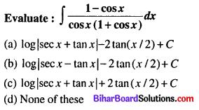 Bihar Board 12th Maths Objective Answers Chapter 7 Integrals Q16