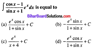 Bihar Board 12th Maths Objective Answers Chapter 7 Integrals Q18
