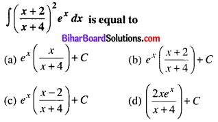 Bihar Board 12th Maths Objective Answers Chapter 7 Integrals Q19