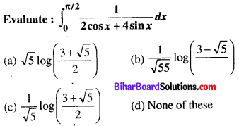 Bihar Board 12th Maths Objective Answers Chapter 7 Integrals Q30