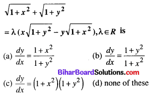 Bihar Board 12th Maths Objective Answers Chapter 9 Differential Equations Q10