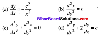 Bihar Board 12th Maths Objective Answers Chapter 9 Differential Equations Q12