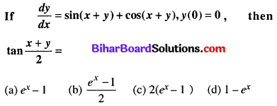 Bihar Board 12th Maths Objective Answers Chapter 9 Differential Equations Q32