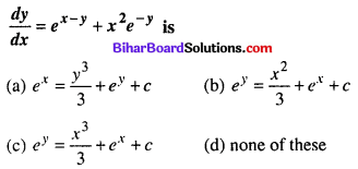Bihar Board 12th Maths Objective Answers Chapter 9 Differential Equations Q34