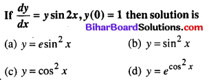 Bihar Board 12th Maths Objective Answers Chapter 9 Differential Equations Q39