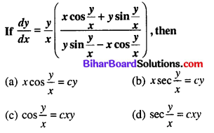 Bihar Board 12th Maths Objective Answers Chapter 9 Differential Equations Q46