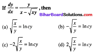 Bihar Board 12th Maths Objective Answers Chapter 9 Differential Equations Q47