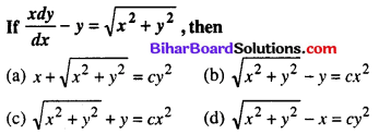 Bihar Board 12th Maths Objective Answers Chapter 9 Differential Equations Q51