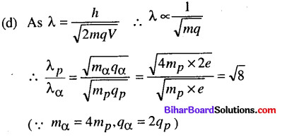 Bihar Board 12th Physics Objective Answers Chapter 11 Dual Nature of Radiation and Matter - 11