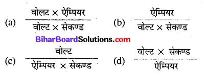 Bihar Board 12th Physics Objective Answers Chapter 6 वैद्युत चुम्बकीय प्रेरण - 4