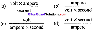 Bihar Board 12th Physics Objective Answers Chapter 6 Electromagnetic Induction - 3