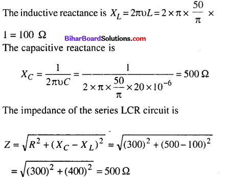 Bihar Board 12th Physics Objective Answers Chapter 7 Alternating Current - 11