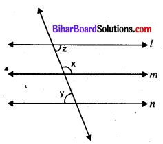 Bihar Board 9th Maths Objective Answers Chapter 6 रेखाएँ और कोण Q45
