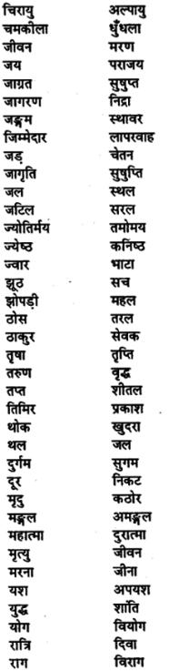 Bihar Board Class 11th Hindi व्याकरण पर्यायवाची शब्द 4