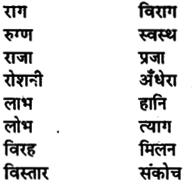 Bihar Board Class 11th Hindi व्याकरण पर्यायवाची शब्द 5