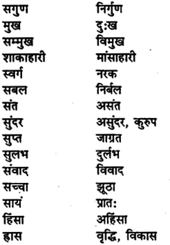 Bihar Board Class 11th Hindi व्याकरण पर्यायवाची शब्द 9