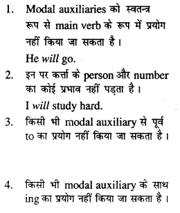 Bihar Board Class 12 English Grammar Modal Auxiliaries 2